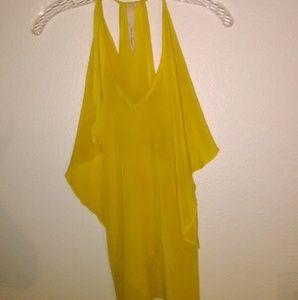 Canary yellow 💯 silk stylish tank top